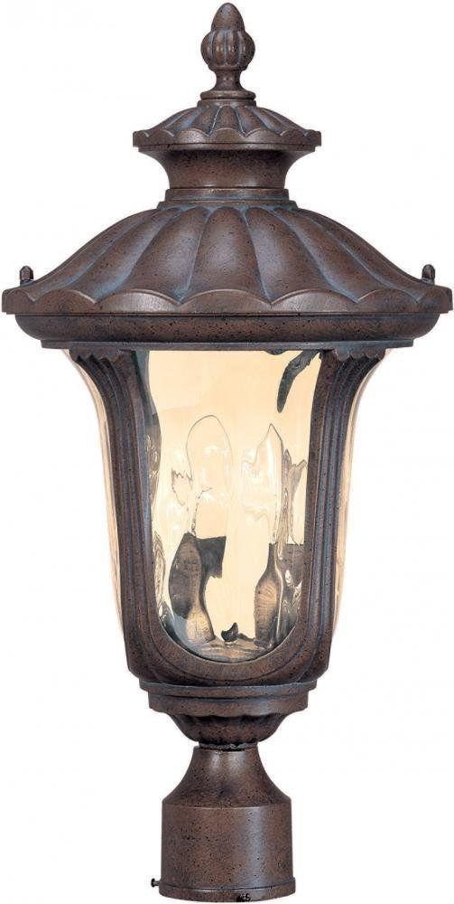 Nuvo Lighting 60-2009 Beaumont Collection Two Light Exterior Outdoor Post Lantern in Fruitwood Finish