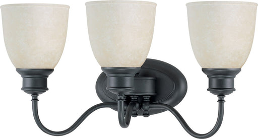 Nuvo Lighting 60-2801 Bella Collection Three Light Bath Vanity Wall Mount in Aged Bronze Finish