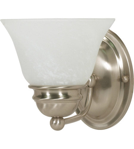 Nuvo Lighting 60-3204 Empire Collection One Light Energy Star Efficient GU24 Wall Sconce in Brushed Nickel Finish