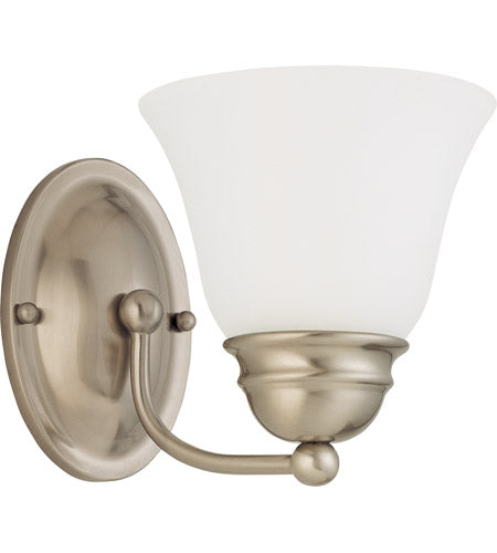 Nuvo Lighting 60-3317 BN Empire Collection One Light LED Wall Sconce in Brushed Nickel Finish