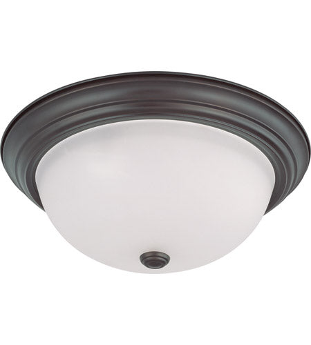 Nuvo Lighting 60-3337 Signature Collection Three Light Energy Star Efficient GU24 Flush Ceiling Mount in Mahogany Bronze Finish