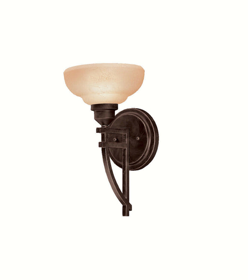 Aztec 37914 by Kichler Lighting Columbiana Collection One Light Wall Sconce in Olde Auburn Finish