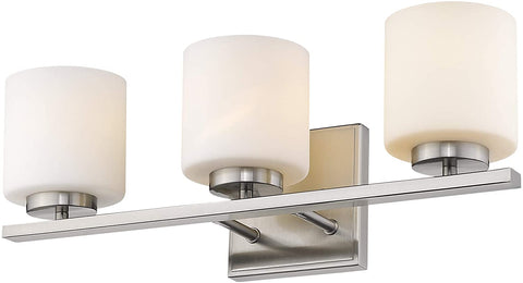 Rainbow Lighting 70523-PN Three Light Bath Vanity Wall Mount in Polished Nickel Finish