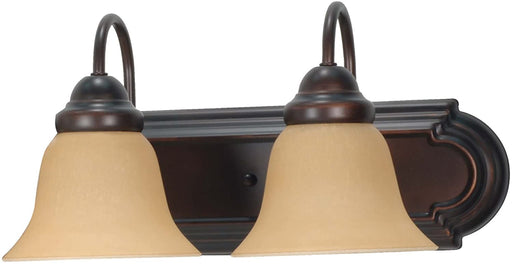 Nuvo Lighting 60-3121 Ballerina Collection Two Light Energy Star Efficient GU24 Bath Vanity Wall Mount in Mahogany Bronze Finish