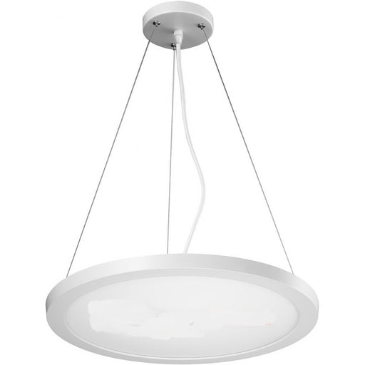 Blink Model #1294 Medium Round LED Suspension in White Finish