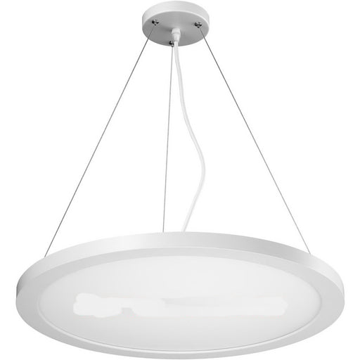 Blink Model #1295 Large Round LED Suspension in White Finish