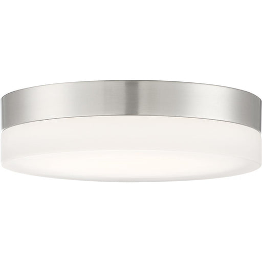 Pi Flush Model #460 LED Fourteen Inch Flush Ceiling Mount in Brushed Nickel or Black Finish