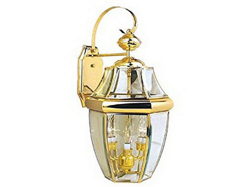 Vaxcel Lighting OW6213TP Three Light Exterior Outdoor Wall Lantern in Titanium Brass Finish