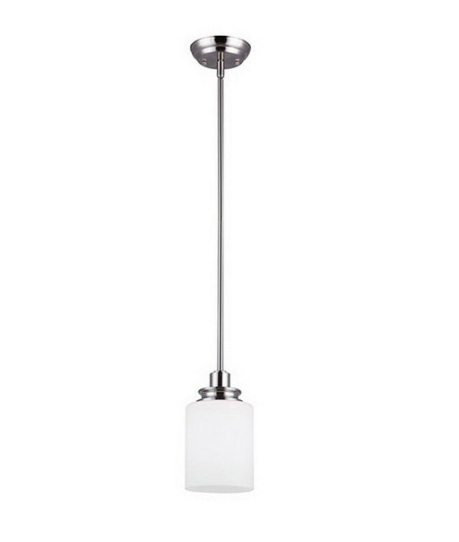 Rainbow Lighting 625A01BN One Light Hanging Mini Pendant in Brushed Nickel Finish