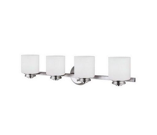 Rainbow Lighting 625A04 BN  Four Light Bath Vanity Wall Mount in Brushed Nickel Finish