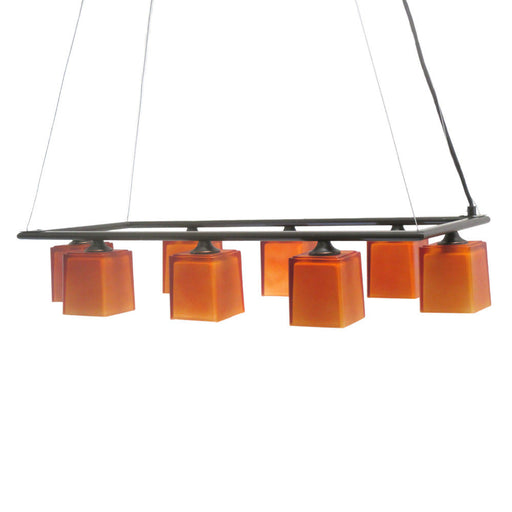 Access Lighting 64018 ORB-AMB Eight Light Hanging Pendant Chandelier in Oil Rubbed Bronze Finish - Quality Discount Lighting