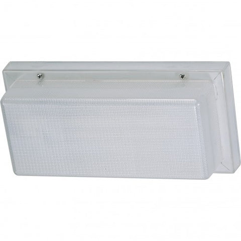 Nuvo Lighting 65-002R One Light Energy Saving CFL Fluorescent Outdoor Wallpack in White Finish - Quality Discount Lighting