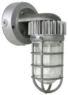 Grand VTL-955-5000 LED Rugged Vapor Proof Industrial Grade Outdoor Wet Location Rated Wall Lantern in Metallic Silver Finish