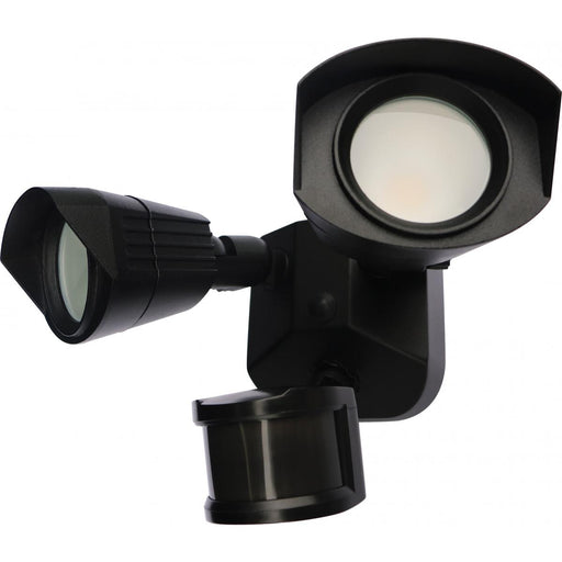 Security Model #221 LED Dual Head Energy Star LED Flood Light with Motion Sensor in Black Finish