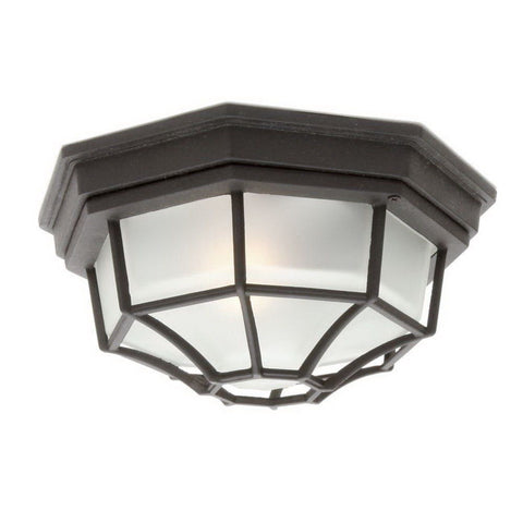 Rainbow EVER 6802 BK Two Light Exterior Outdoor Flush Mount in Black Finish