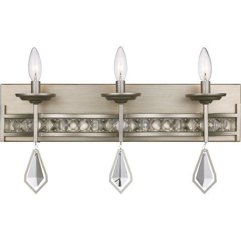 Trans Globe Lighting 70773 ASL Three Light Bath Vanity Wall Fixture in Antique Silver Finish