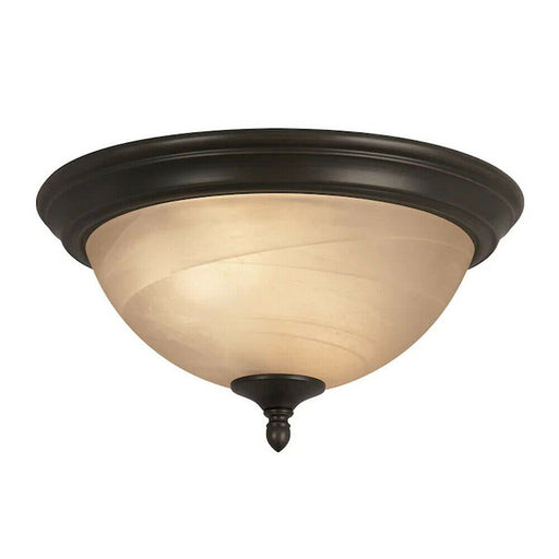 Trans Globe Lighting 7291 ROB Flush Ceiling Mount in Oil Rubbed Bronze Finish