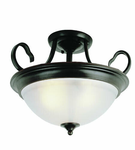Trans Globe Lighting 7292 ROB Semi Flush Ceiling Mount in Rubbed Oil Bronze Finish