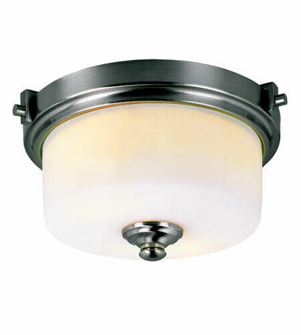 Trans Globe Lighting 7923 BN Two Light Flush Ceiling Fixture in Brushed Nickel Finish