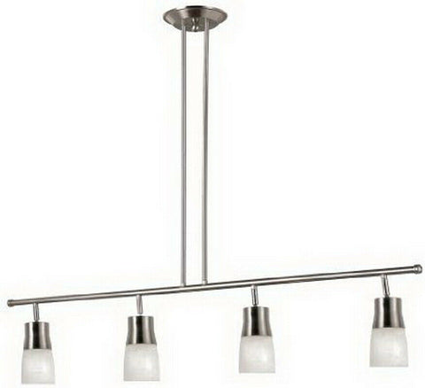 Trans Globe Lighting W-804-BN Four Light LED Track Adjustable Pendant in Brushed Nickel Finish