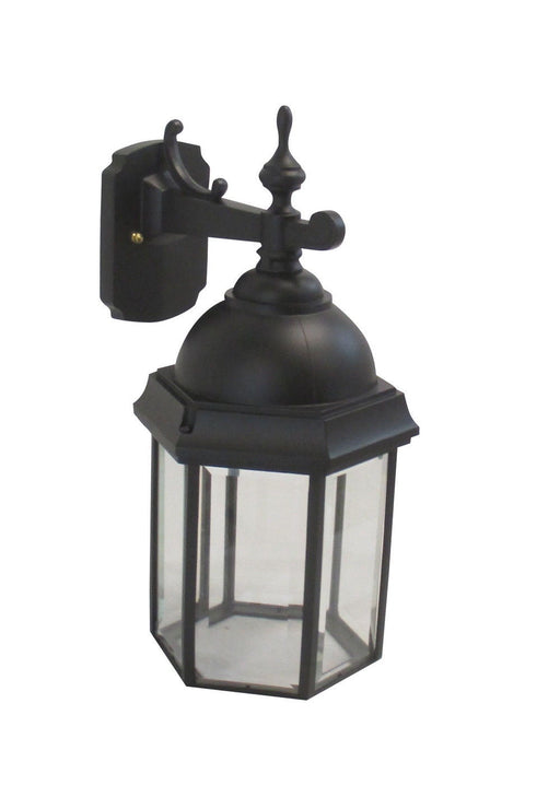 Adjustapost DLX81043 BLK One Light Exterior Outdoor Wall Lantern in Black Finish