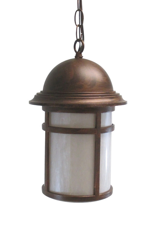 Adjustapost DLX81460 AC One Light Exterior Outdoor Hanging Lantern in Antique Copper Finish