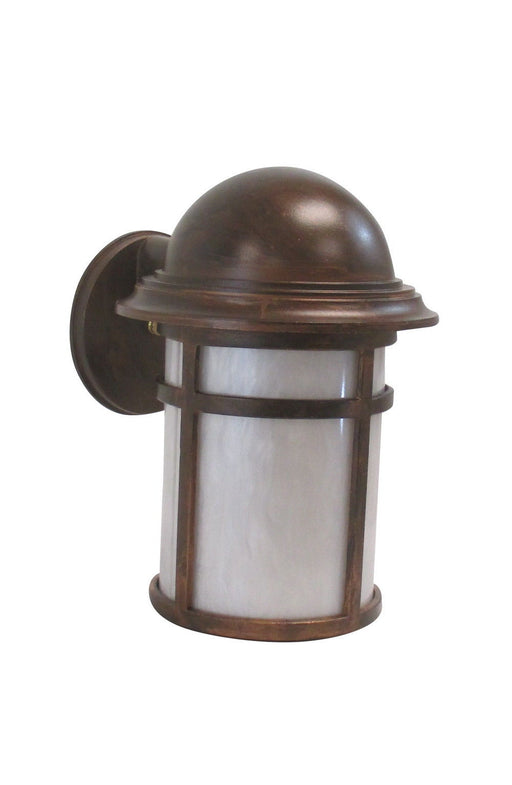 Adjustapost DLX81461 AC One Light Exterior Outdoor Wall Lantern in Antique Copper Finish