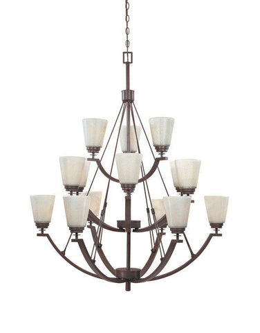 Designers Fountain Lighting 816815 TU Harlow Collection Fifteen Light Hanging Chandelier in Tuscana Bronze Finish
