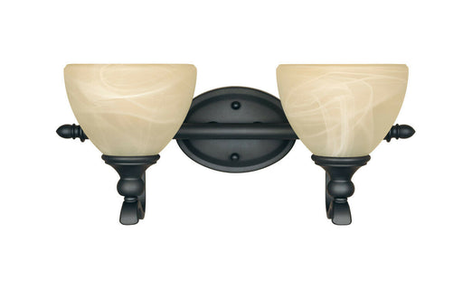 Designers Fountain Lighting 82802 BNB Del Amo Collection Two Light Bath Vanity Wall Mount in Burnished Bronze Finish