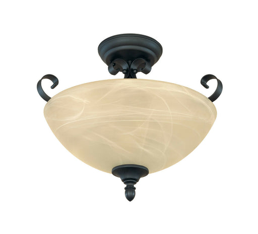 Designers Fountain Lighting 82811 BNB Del Amo Collection Two Light Semi Flush Ceiling Mount in Burnished Bronze Finish