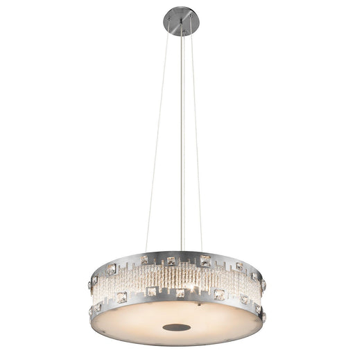 Elan by Kichler Lighting 83034 Signature Collection Six Light Hanging Pendant Chandelier in Brushed Nickel Finish