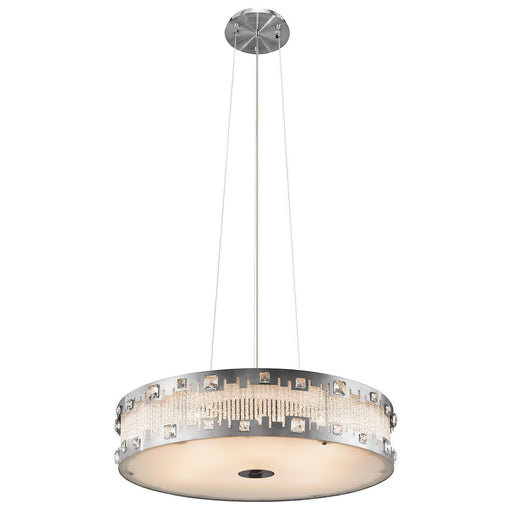 Elan by Kichler Lighting 83035 Signature Collection Eight Light Hanging Pendant Chandelier in Brushed Nickel Finish