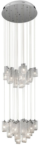 Elan by Kichler Lighting 83095 Zanne Collection Thirty Light Hanging Pendant Chandelier in Polished Chrome Finish