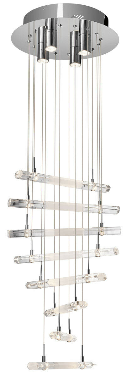 Elan by Kichler Lighting 83105 Trappa Collection Twenty Light Hanging Pendant Chandelier in Polished Chrome Finish