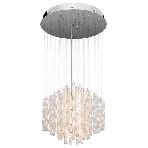 Elan by Kichler Lighting 83107 Signature Collection Twenty One Light Hanging Pendant Chandelier in Polished Chrome Finish