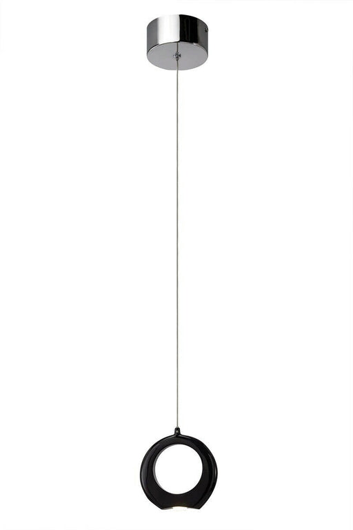 Elan by Kichler Lighting 83316 Zuy Collection LED Hanging Mini Pendant in Black and Chrome Finish