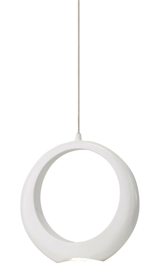 Elan by Kichler Lighting 83320 Zuy Collection LED Hanging Pendant in White and Chrome Finish