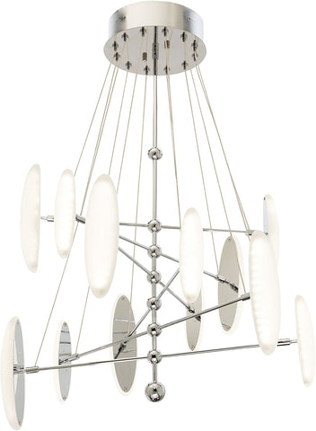 Elan by Kichler Lighting 83327 Cellulare Collection LED Hanging Pendant Chandelier in Polished Chrome Finish