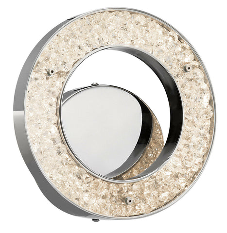 Elan by Kichler Lighting 83414 Crushed Ice Collection LED Wall Sconce in Polished Chrome Finish