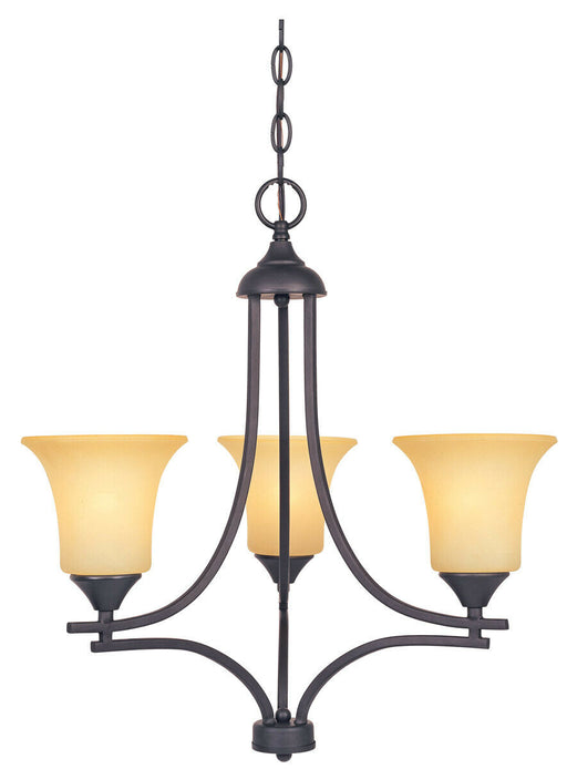 Designers Fountain Lighting 83483 ORB Three Light Hanging Chandelier in Oil Rubbed Bronze Finish