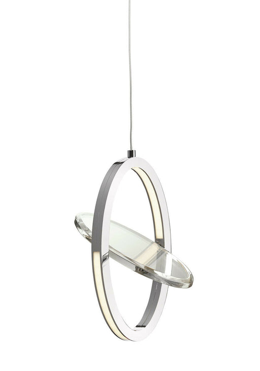 Elan by Kichler Lighting 83572 Oliv Collection LED Hanging Oval Pendant in Polished Chrome Finish