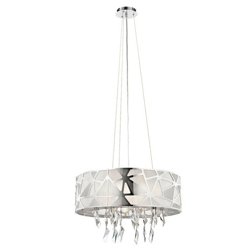 Elan by Kichler Lighting 83584 Angelique Collection Six Light Hanging Pendant Chandelier in Polished Chrome Finish