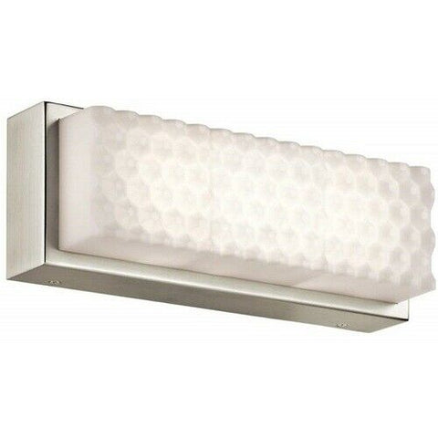 Elan by Kichler Lighting 83649 Merco Collection LED Bath Vanity Wall Light in Brushed Nickel Finish
