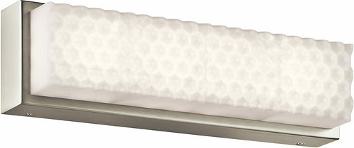 Elan by Kichler Lighting 83651 Merco Collection LED Bath Vanity Wall Light in Brushed Nickel Finish
