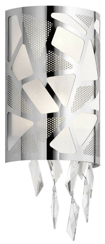 Elan by Kichler Lighting 83674 Angelique Collection Two Light Wall Sconce in Polished Chrome Finish