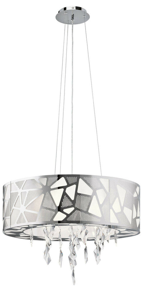 Elan by Kichler Lighting 83675 Angelique Collection Three Light Hanging Pendant Chandelier in Polished Chrome Finish