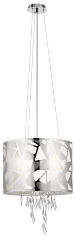 Elan by Kichler Lighting 83676 Angelique Collection Four Light Hanging Pendant Chandelier in Polished Chrome Finish
