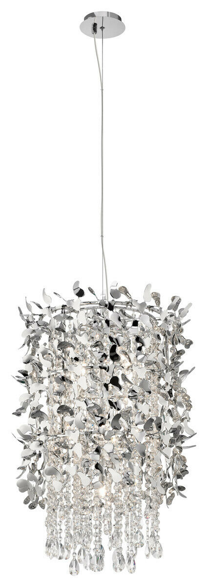 Elan by Kichler Lighting 83678 Alexa Collection Nine Light Hanging Pendant Chandelier in Polished Chrome Finish