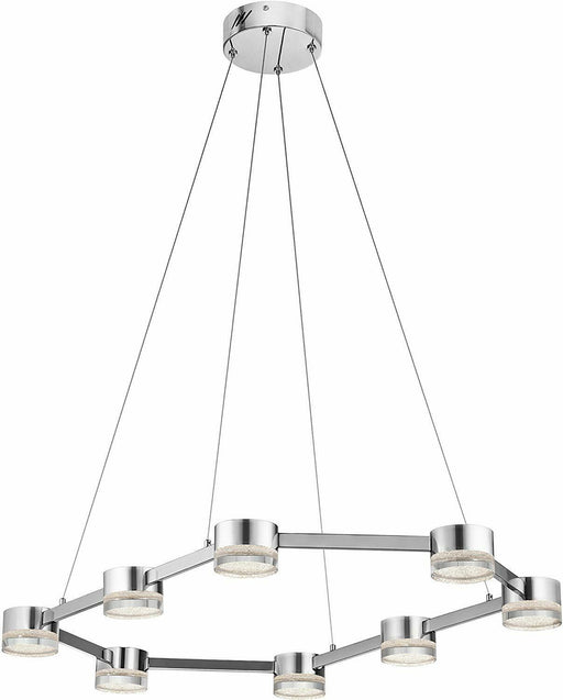 Elan by Kichler Lighting 83709 Avenza Collection LED Eight Light Hanging Pendant Chandelier in Polished Chrome Finish