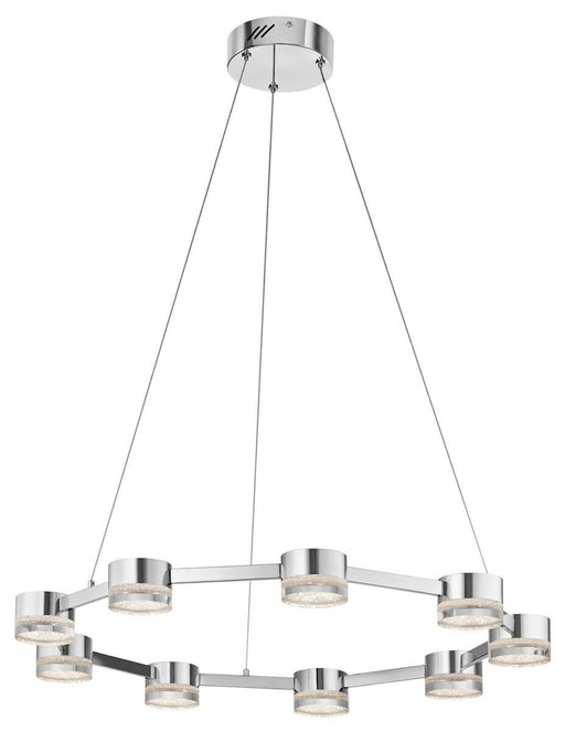 Elan by Kichler Lighting 83711 Avenza Collection LED Nine Light Hanging Pendant Chandelier in Polished Chrome Finish